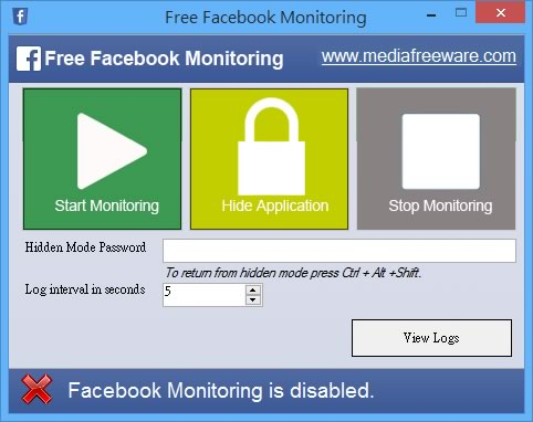 Free Facebook Monitoring 監控 Facebook 上的活動並擷取成圖片