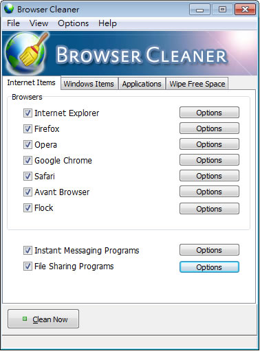 Browser Cleaner 徹底清除上網記錄,適用 Internet Explorer、Firefox、Google Chrome、Opera、Safari 等(免安裝)